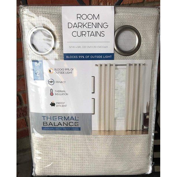 Ivory Sand Room Darkening Curtains