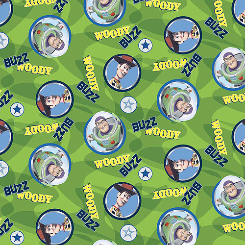 """Springs Creative Fleece Buzz And Woody Circles 59"""" wide Fabric by the Yard"""