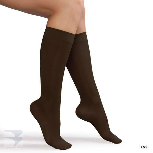 Complete Medical Ladies Sheer Firm Support 20-30 mmHg Knee Highs 0.1 Pound Large Beige