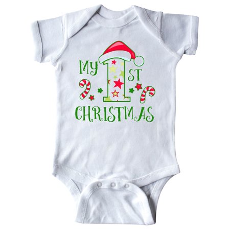 My 1st Christmas with Candy Canes and Stars Infant Creeper ()