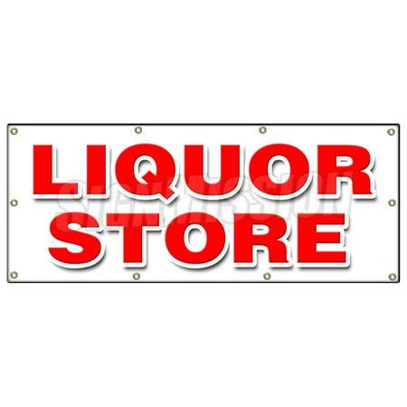 36 X96  Liquor Store Banner Sign Cold Beer Malt Huge Selection Cigarettes Ice