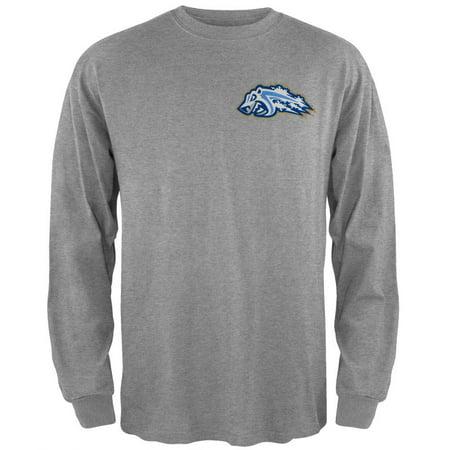 Adirondack Frostbite - Dual Logo Grey Youth Long Sleeve