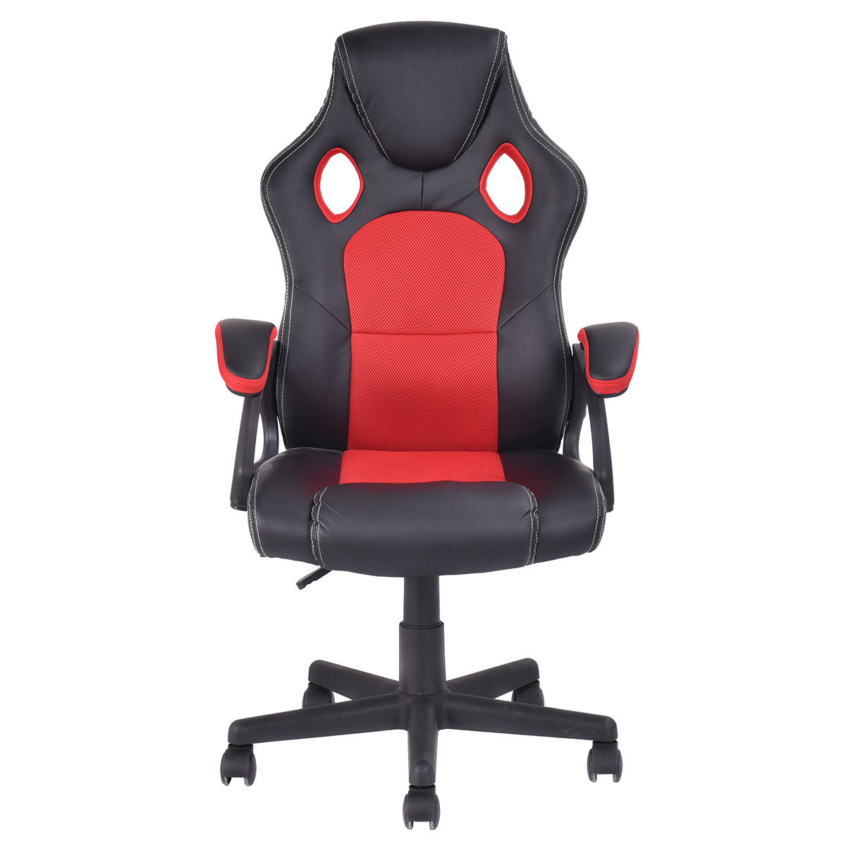 costway pu leather executive bucket seat racing style office chair