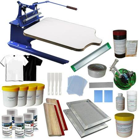 Techtongda 1 Color Screen Printing Press Kit DIY Silk Screen Prinert Supply Kit #006949](Silk Screen Kit)