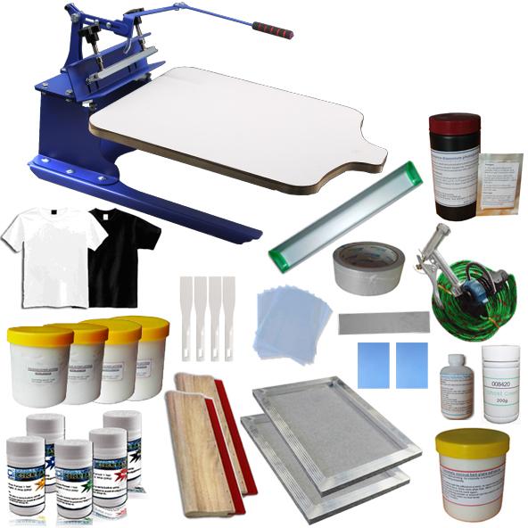 Techtongda 1 Color Screen Printing Press Kit DIY Silk Screen Prinert Supply Kit #006949