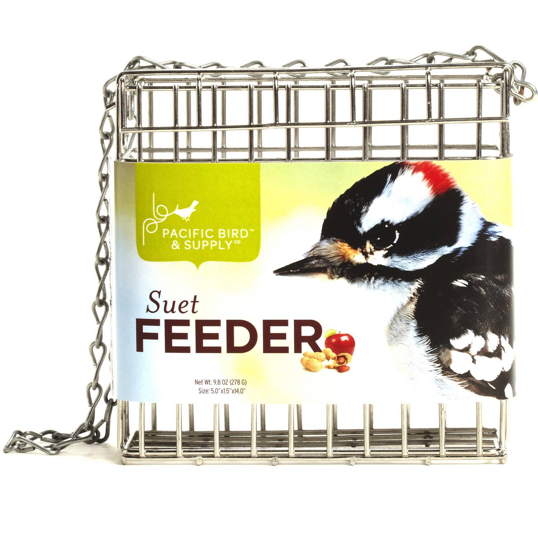 """Pacific Bird & Supply PB-0042 5"""" x 1.5"""" x 14"""" Suet Cage Feeder"""
