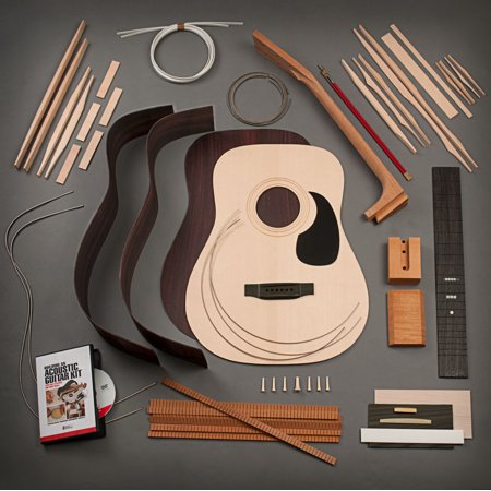 Rosewood Dreadnought (StewMac Build Your Own Dreadnought Acoustic Guitar Kit, Dovetail Neck, Sitka Top, Indian Rosewood Back &)