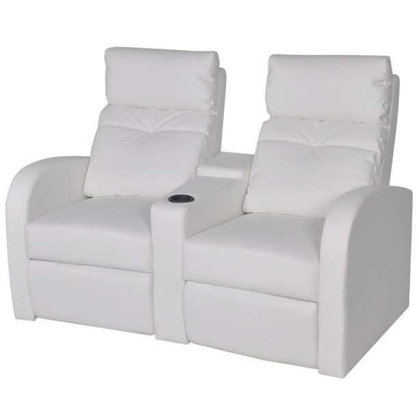 Greensen Recliner 2-seat Artificial Leather White HOT SALE