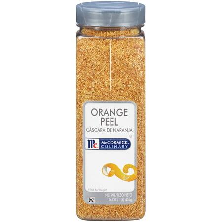 Grated Orange Peel - McCormick Culinary Orange Peel, 16 Oz