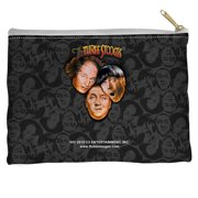 The Three Stooges Stooges All Over Accessory Pouch White 8.5X6
