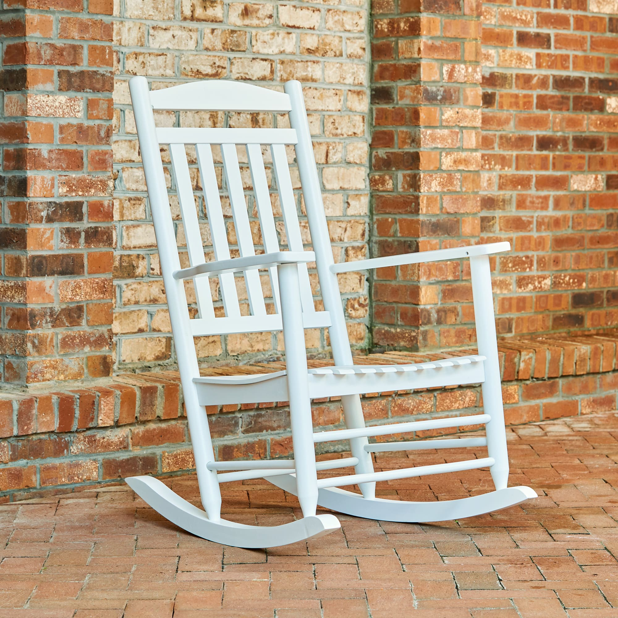 Shine Company Maine Porch Rocker - White