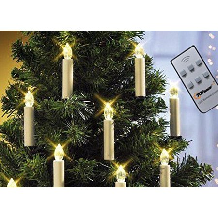 LIT10 Battery Powered Remote Control LED Christmas Tree ...