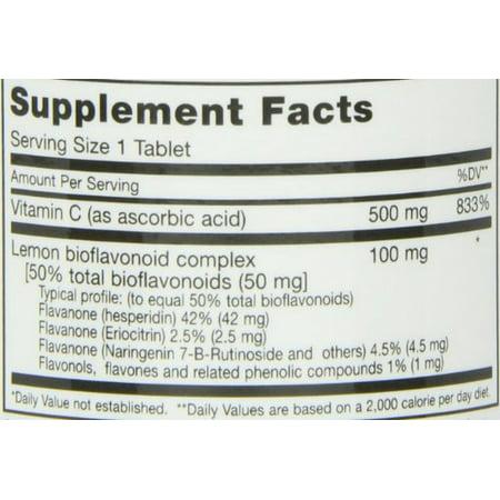 "Maxi Health MAX C ""500 mg"" - Vitamin C - with Lemon Bioflavonoids Complex, 100 Count"