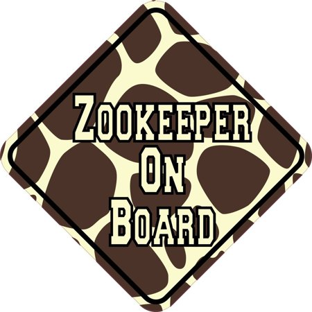 5x5 zookeeper on board bumper stickers vinyl decals window