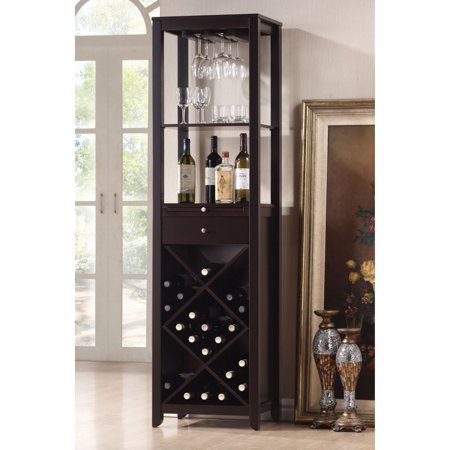 ACME Casey Wine Cabinet, Wenge (Convert A Wine Barrel Into A Cabinet)