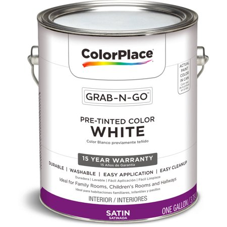Colorplace White Satin Interior Paint 1 Gallon