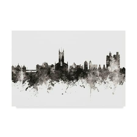 Trademark Fine Art 'Stoke-on-Trent England Skyline Black White' Canvas Art by Michael (Johnson Brothers Stoke On Trent England Holland)