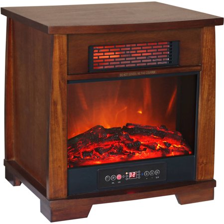 Heat Wave Infrared Quartz Heater with Flame Effect ...