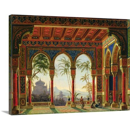 Great BIG Canvas | Andreas (1805-1891) Roller Premium Thick-Wrap Canvas entitled Stage design for the opera