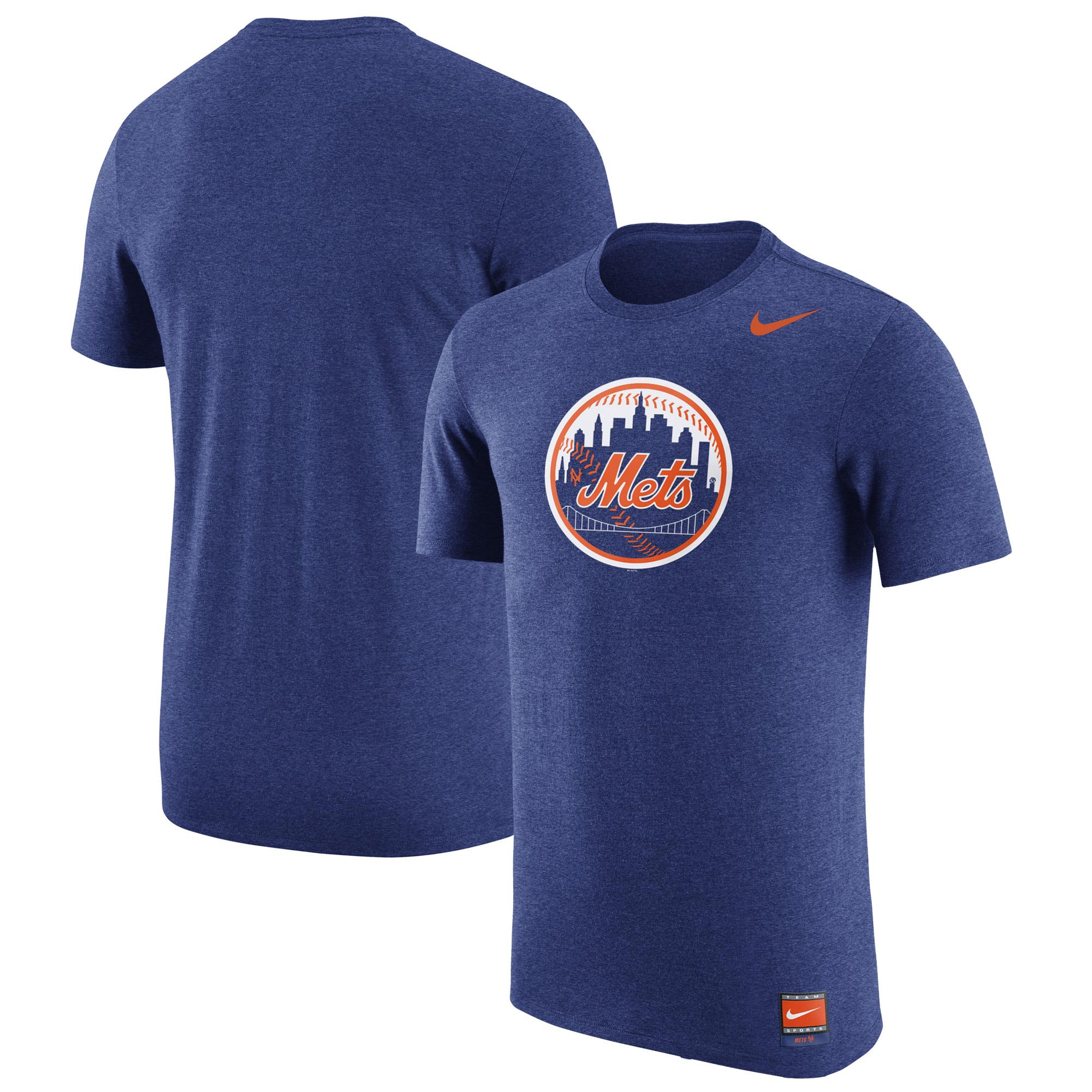New York Mets Nike Cooperstown Retro Logo Tri-Blend T-Shirt - Royal
