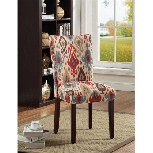 Kinfine N6354-A708 Deluxe Multi color Ikat Parson Chairs by Kinfine USA Inc