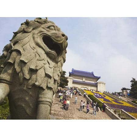 People at Mausoleum of Dr. Sun Yat Sen (Zhongshan Ling), Zijin Shan, Nanjing, Jiangsu, China, Asia Print Wall Art By Ian (Dr Sun Yat Sen Classical Chinese Garden)