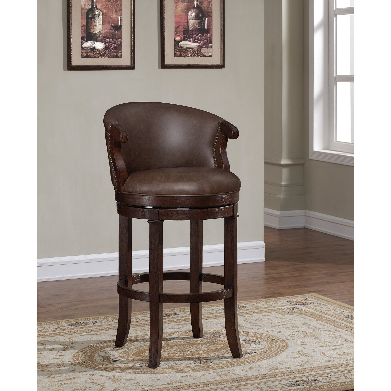 American Woodcrafters Mirelle 26 in. Swivel Counter Stool