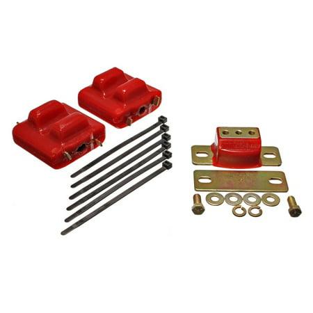 - Energy Suspension 87-91 Suburban C10-C30 2WD Red Motor & Transmision Mounts-Zinc Finish