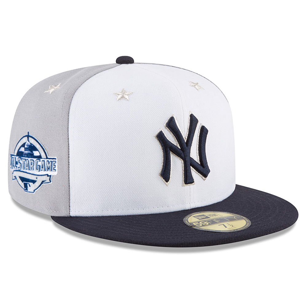 New York Yankees New Era 2018 MLB All-Star Game On-Field 59FIFTY Fitted Hat - White/Navy