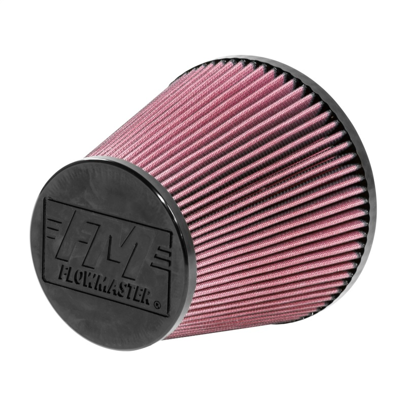 Flowmaster Universal 6in ID / 7.5in Length Cone Style Air Filter - Red