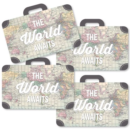 World Awaits - Suitcase Decorations DIY Travel Themed Party Essentials - Set of 20