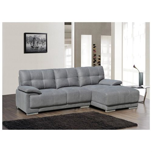 US Pride Furniture Jacob Contemporary Grey Fabric Facing