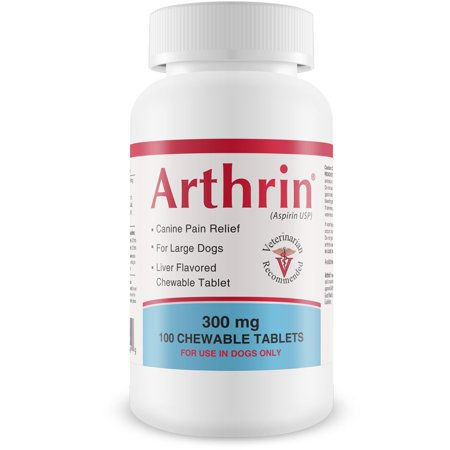 Canine Chewable Wafers (Arthrin Canine Aspirin 300 mg For Larger Dogs (100 Chewable)