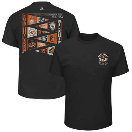Baltimore Orioles Majestic Wave the Pennant T-Shirt - Black