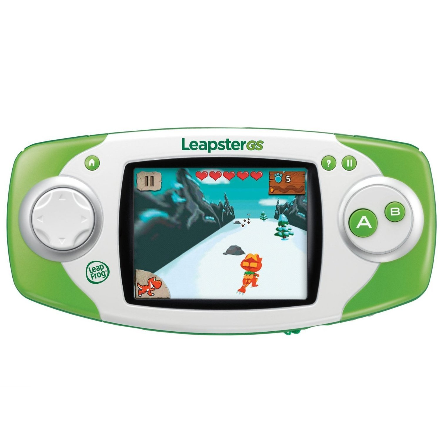 LeapFrog Leapster GS Explorer Handheld Kids Learning Tablet with Kid-Friendly Controls, Green (Refurbished) by LeapFrog