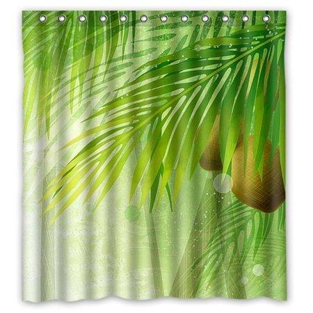 XDDJA Beautiful Flower Pattern Shower Curtain Waterproof Polyester Fabric Shower Curtain Size 66x72 inches - image 1 de 1