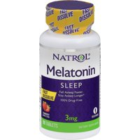 Natrol Melatonin Fast Dissolve Strawberry - 3 mg - 90 Tablets Sleep Aids