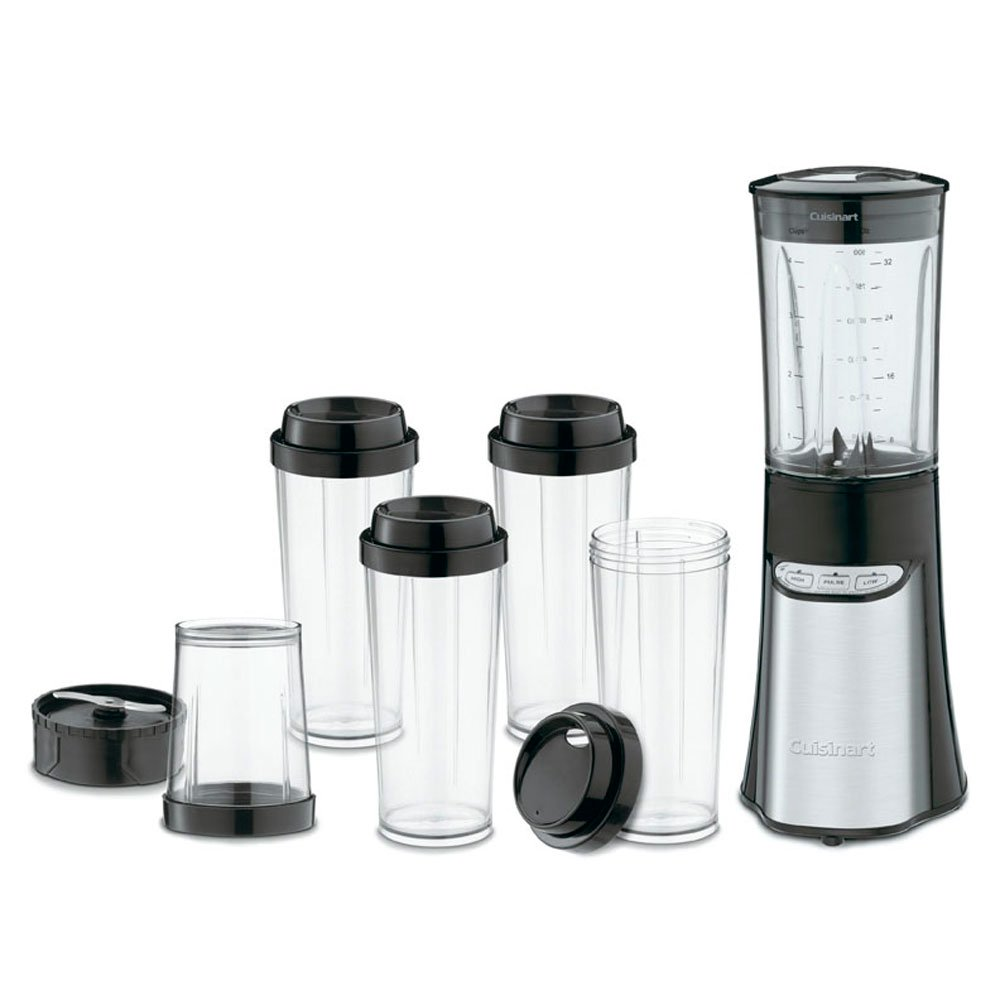 Cuisinart Compact Portable Food Processor Chopping Blender Mixer System w/ Cups