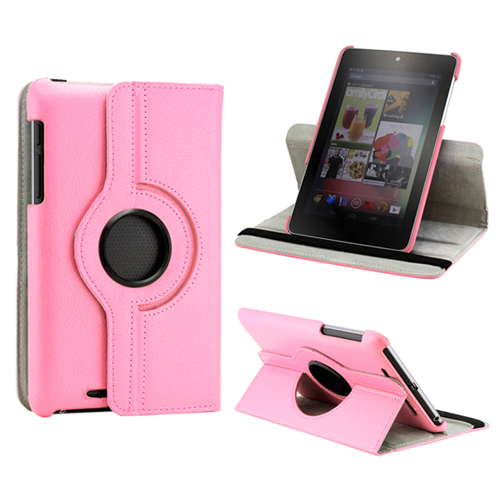 360 Degree Rotating PU Leather Case Cover Swivel Stand for Google Nexus 7 Asus Tablet
