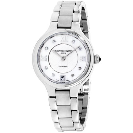 Frederique Constant Silver Dial Stainless Steel Ladies Watch FC306WHD3ER6B