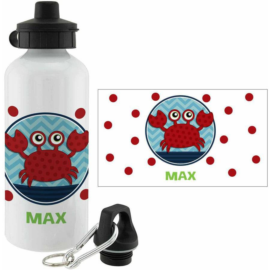 Personalized Sweet Crab Water Bottle