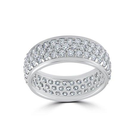 3 5/8ct Pave Diamond Eternity Ring 14K White - Pave Diamond Eternity Ring