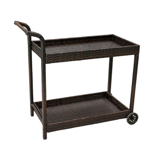 Denise Austin Home Baja Outdoor Wicker Bar Cart