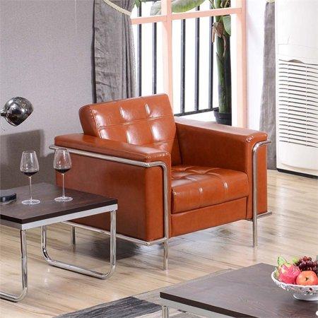 Astonishing Flash Furniture Hercules Lesley Series Contemporary Cognac Leather Chair With Encasing Frame Creativecarmelina Interior Chair Design Creativecarmelinacom