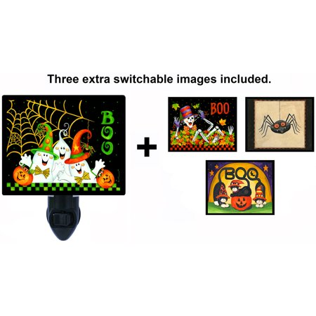 Night Light - Switchable Photos Included - Halloween - Boo - Skeleton - Cats - Spider - Halloween Cats Cover Photos