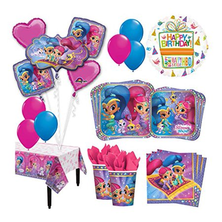 The Ultimate 16 Guest 94pc Shimmer and Shine Birthday Party Supplies (Spy Party Supplies)