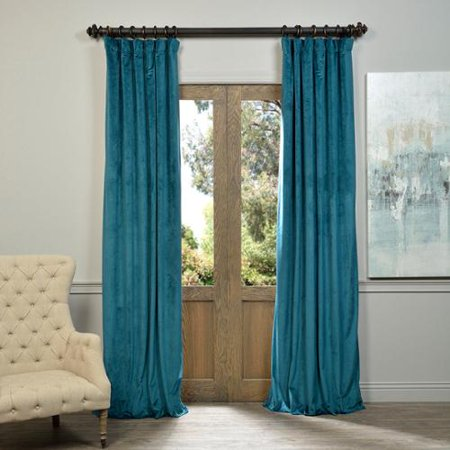 Exclusive Fabrics Signature Velvet 96 Inch Blackout Curtain Panel