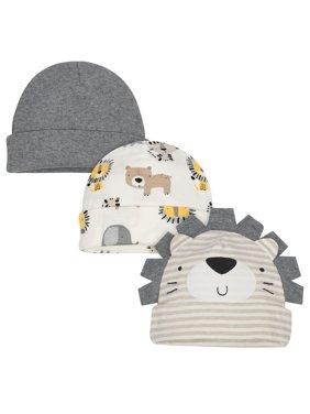 Gerber Infant Boys Cap, 3 Pack