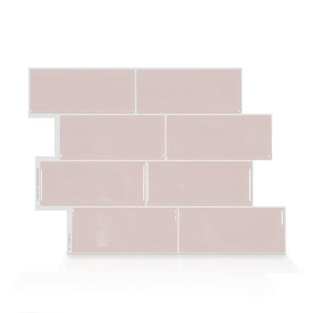 Smart Tiles 11.56 in x 8.38 in Peel and Stick Self-Adhesive Mosaic Backsplash Wall Tile - Metro Ava (4-Pack) Metro Wall Tiles