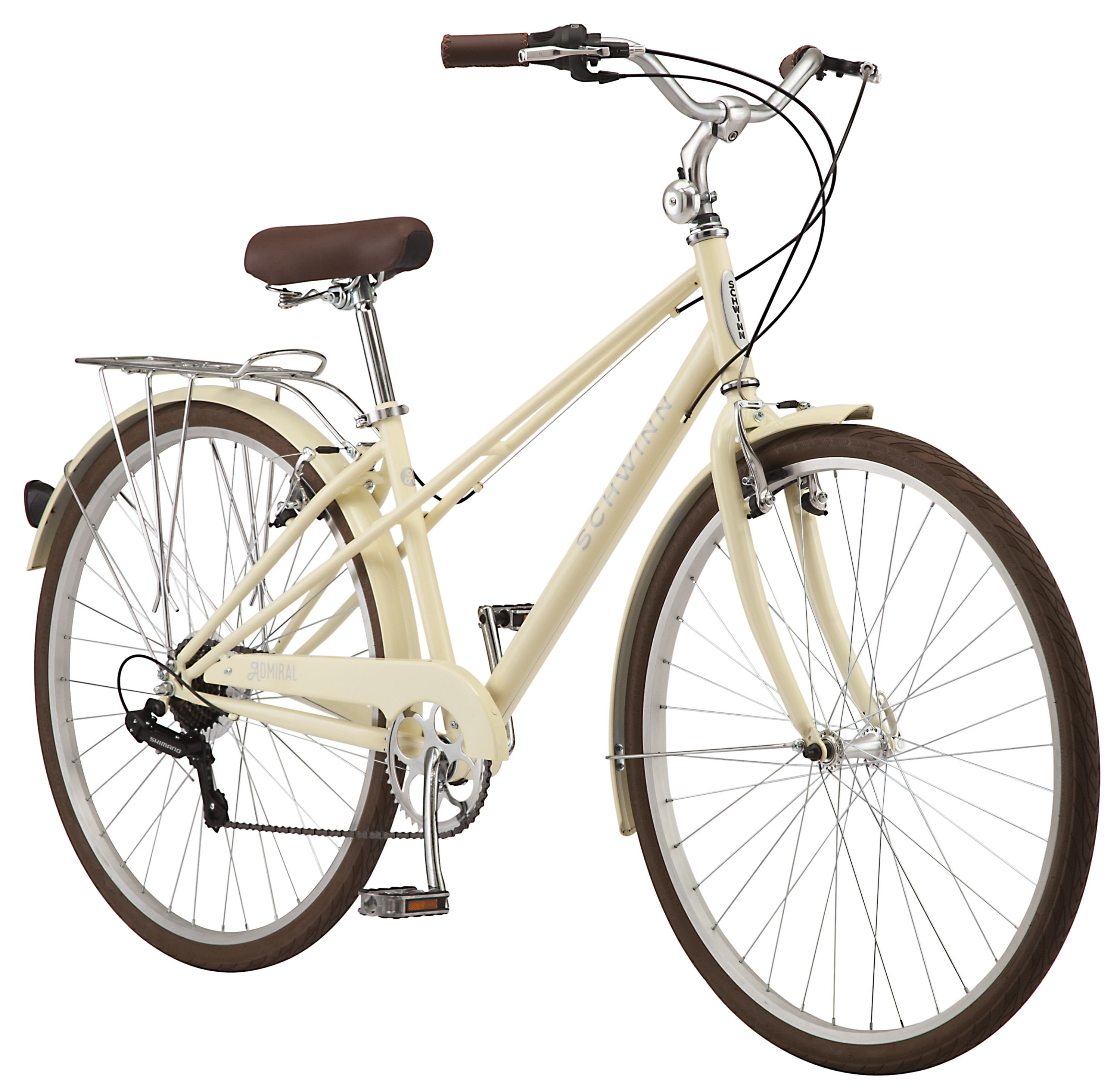700c Schwinn Admiral Womens Hybrid Bike with 7 Speeds Gearing, Shimano Rear Derailleur